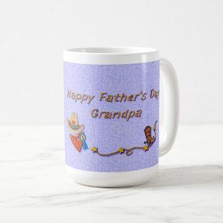 Grandpa on Father's Day Western Theme with Photo Coffee Mug