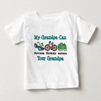 Grandpa Outswim Outbike Outrun Triathlon Baby T-sh Baby T-Shirt