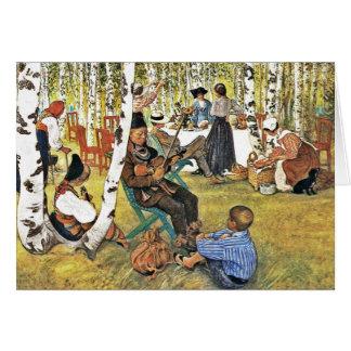 Grandpa Plays Hardanger Fiddle Card
