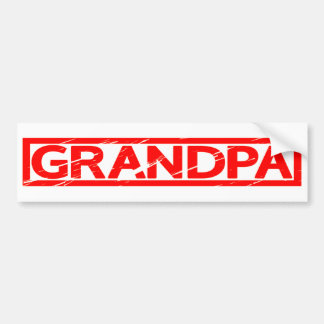 Grandpa Stamp Bumper Sticker