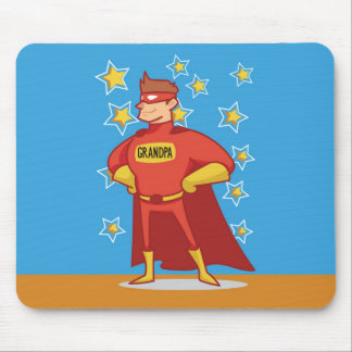 Grandpa Superhero, Grandparents Day Mouse Pad