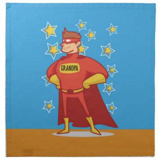 Grandpa Superhero, Grandparents Day Napkin
