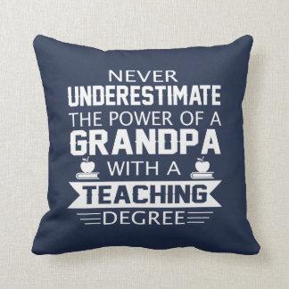 Grandpa Teacher Throw Pillow