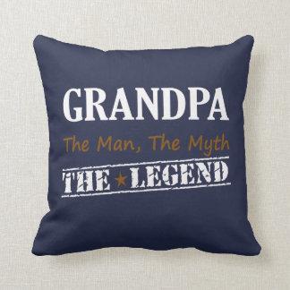 Grandpa The Legend Throw Pillow