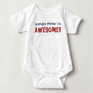 Grandpa Thinks I'm Awesome! Baby Infant Bodysuit