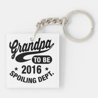 Grandpa To Be 2016 Keychain
