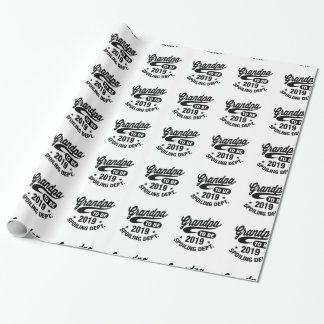 Grandpa To Be 2019 Wrapping Paper