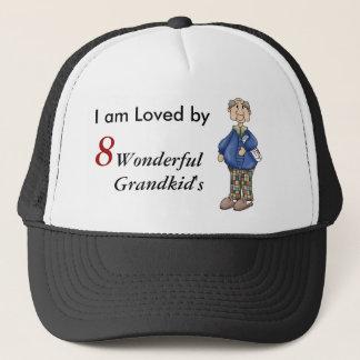 Grandpa with Newspaper Design Trucker Hat