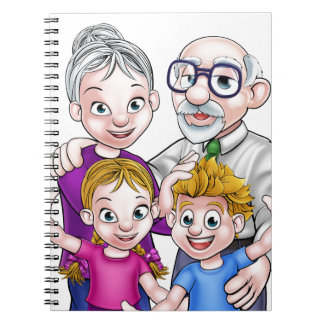 Grandparents and Children Spiral Note Book