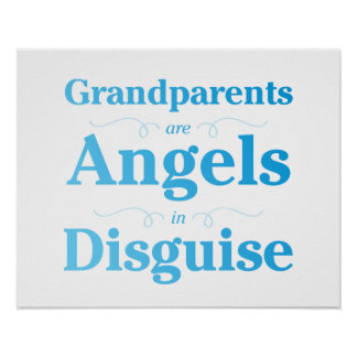 Grandparents are Angels in Disguise Poster