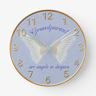 Grandparents Are Angels Wall Clock