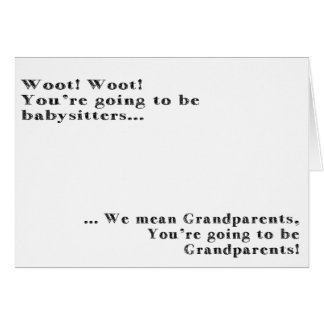 Grandparents Baby Announcement Card