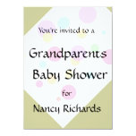 "Grandparents Baby Shower Invitation 4.5"" X 6.25"" Invitation Card"