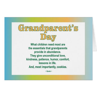 Grandparents Day 2 greeting card