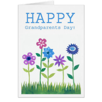 Grandparents' Day Card - Flower Power