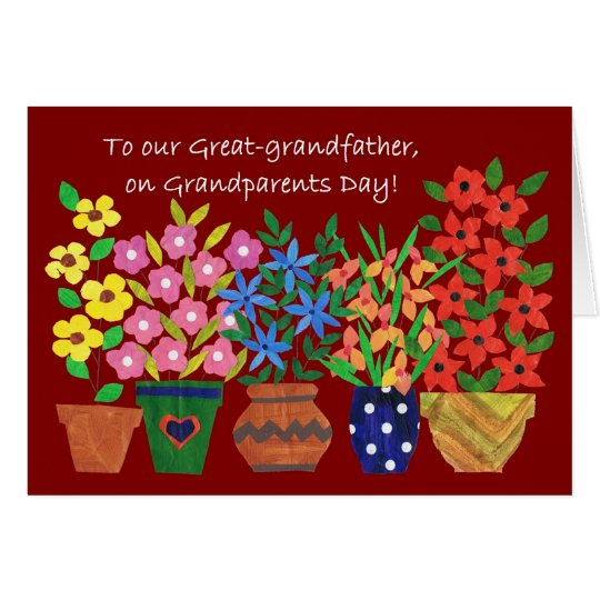 Grandparents Day Card for Great-grandfather