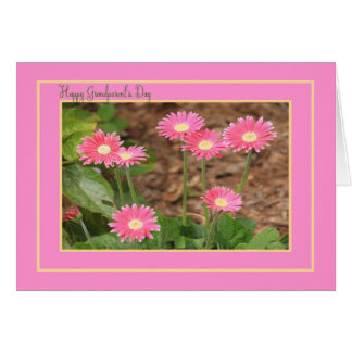 Grandparent's Day Card Pink Daisies Blank Inside