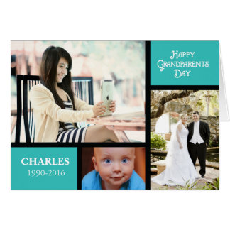 Grandparents Day Customize Name and Photo Card