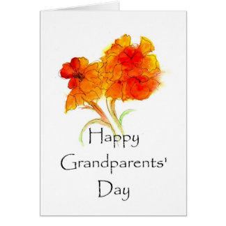 Grandparents' Day Floral Greeting Card