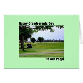 Grandparents Day for Poppi with Golf Scene Card