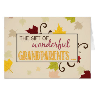 Grandparents Day Gift with Leaves Card