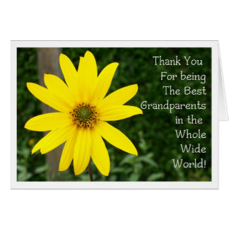 Grandparents' Day Sunflower Greeting Card