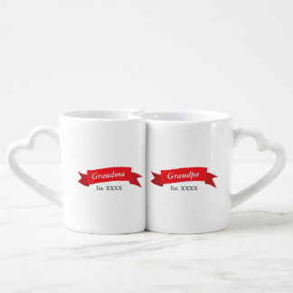 Grandparents Est. XXXX Coffee Mug Set