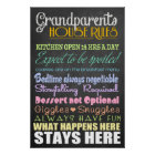 Grandparents House Rules Poster