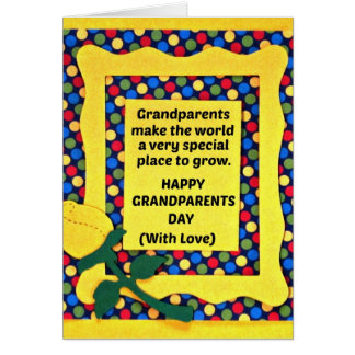 Grandparents make the world a special place... card