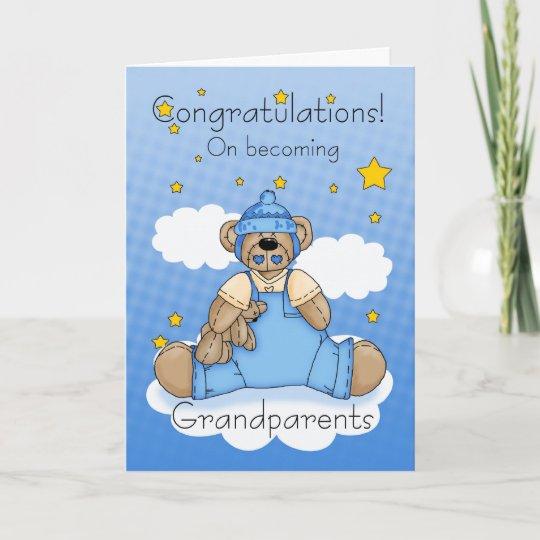 grandparents new baby boy congratulations card zazzle ca