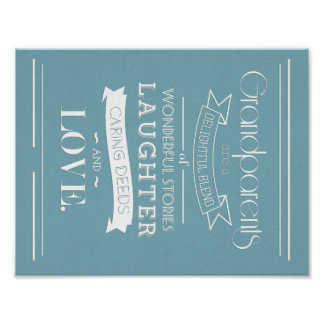 Grandparents Vintage Style Quote Poster