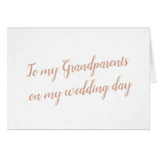 Grandparents Wedding Card