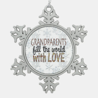 Grandparents Word art Holiday ornament