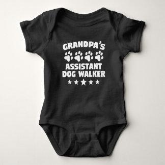Grandpa's Assistant Dog Walker Baby Bodysuit