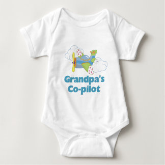 Grandpa's Copilot Boy Baby Bodysuit