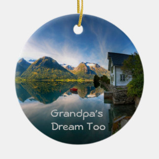 Grandpa's Dream too Ceramic Ornament