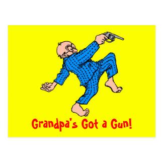 Grandpa's Got a Gun! Postcard
