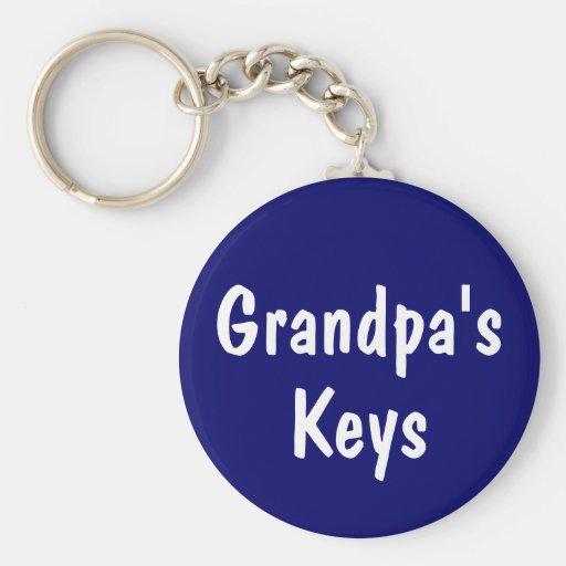 Grandpa's Keys Keychain