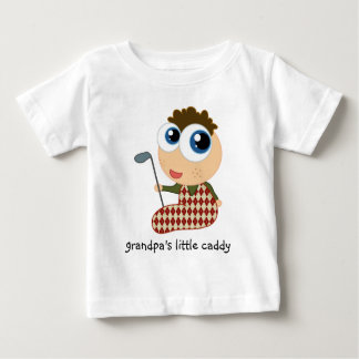 Grandpa's Little Caddy Golf Kids Tee Shirt