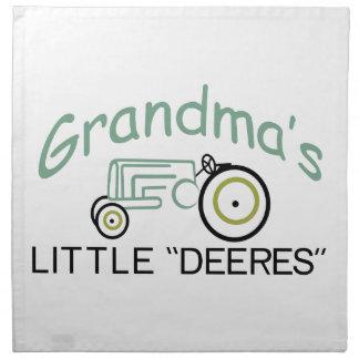 Grandpas Little Deeres Printed Napkins