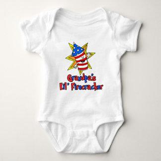 Grandpa's Little Firecracker Baby Bodysuit