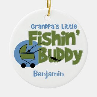Grandpa's Little Fishin' Buddy Keepsake Ornament