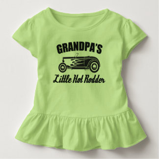 Grandpa's Little Hot Rodder Hot Rod Grandchild Car Toddler T-shirt