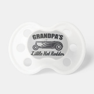 Grandpa's Little Hot Rodder HotRod Grandchild Car Pacifier