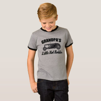 Grandpa's Little Hot Rodder HotRod Grandchild Car T-Shirt