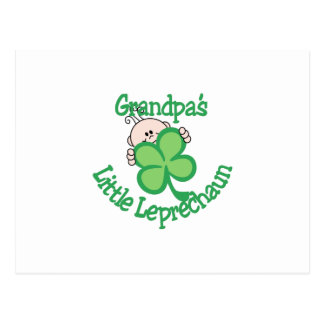Grandpa's Little Leprechaun Postcard