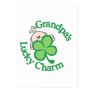 Grandpa's Lucky Charm Postcard