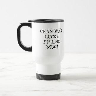 Grandpa's Lucky Fishing Travel Mug