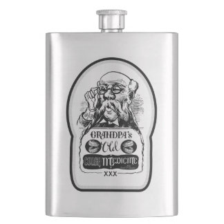 Grandpa's Old Cough Medicine - Dumb and Dumber Hip Flask