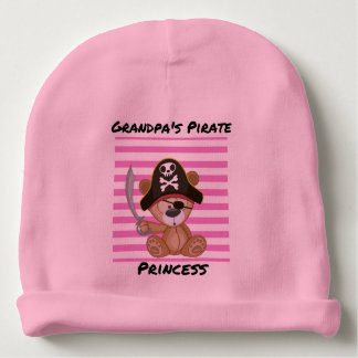Grandpa's Pirate Princess Baby Cotton Beanie Baby Beanie